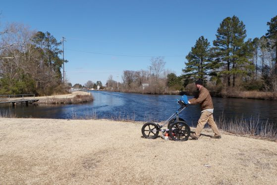 GPR at a swamp canal